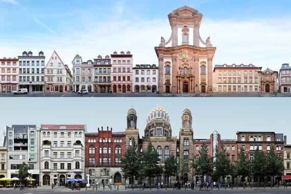 Jörg Dietrich: Mainz Augustinerstraße, 2017 Berlin Oranienburger Straße, 2011© panoramastreetline.com